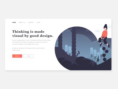 Design agency - Hero section visual designer visual design illustration header design studio studio homepage webdesign adobe experience design web design branding ux ui