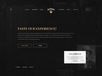 Whiskey website design - homepage figma fastdraw whiskey website design vector ui ux design