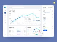 Design for business analytics service platform design ui  ux desktop webdesign business interface customized schedule diagrams data design analytics ux ui design