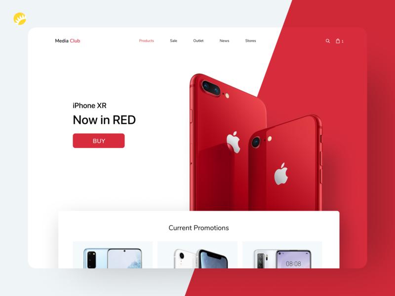 Media Market branding webdesign website user interface trend iphone uiuxdesign store design buying white red high quality platform design shopping mediamarket design ux ui