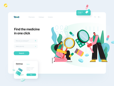 Teva UI dribbble homepage design uidesign white background minimalistic user friendly web design pharmaceutical medicine app health app medicines catalog online pharmacy website design ui design design ui