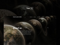 About us page - free PSD