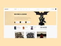 Online cinema - homepage design