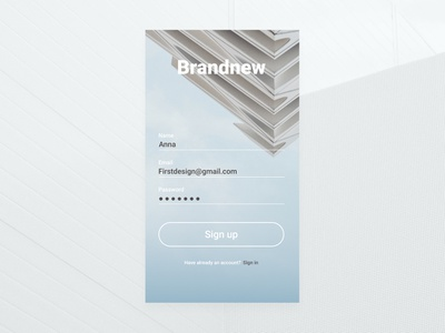 Daily UI #001 — Sign up appdesign 001 daily ui userinterface challange signup uidesign dailyui dailyui 001