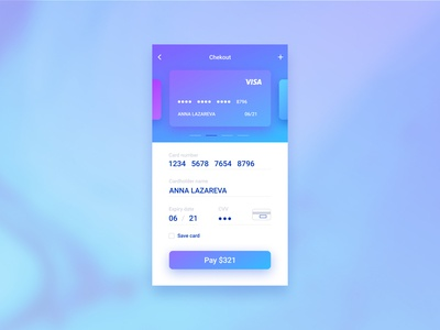 Daily UI #002 — Credit Card Checkout uidesign appdesign dailychallenge daily 100 userinterface dailyui dayliui002 002