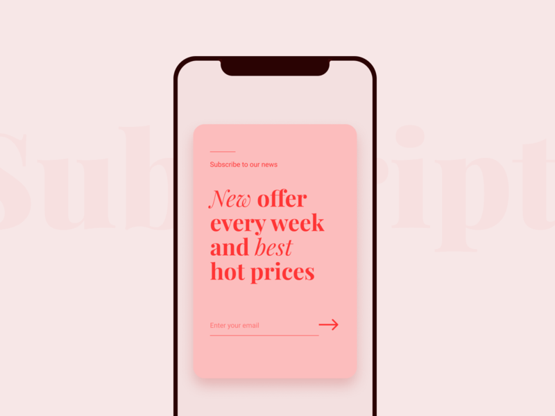 Pop-Up / Overlay appdesign typography subscription pop up 016 daily ui dailychallenge daily 100 dailyui uidesign dailyui016