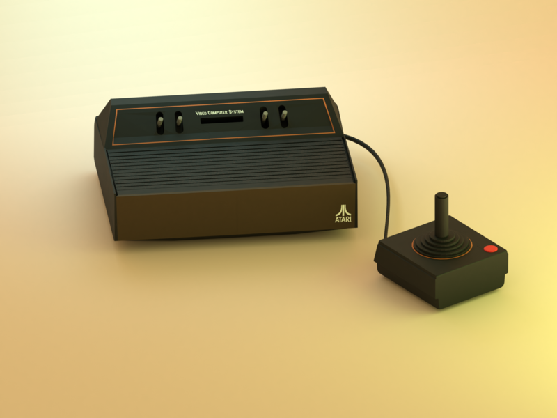 Atari 2600 atari low poly illustration 3d