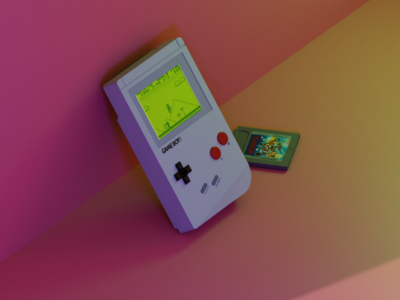 Super Mario - Gameboy 3d lowpoly low poly game boy