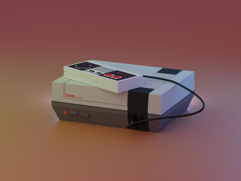 Nintendo Entertainment System nintendo lowpoly nes 3d