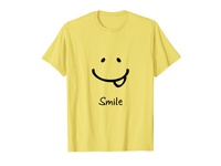 Smile Be Happy T-shirt Funny Smiley Face, Happiness Tee