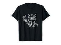Mummy Cat Funny Hand drawing Illustration T-shirt