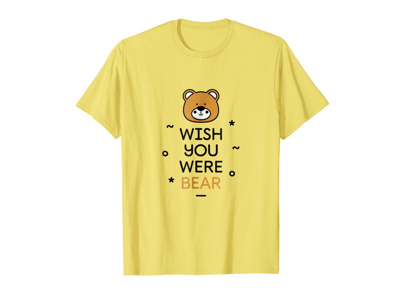 2379310d Wish You Were Bear T-Shirt by MadeByBono | Dribbble | Dribbble