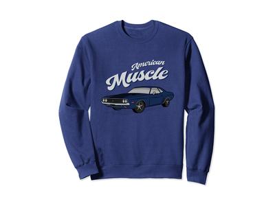 American Muscle Car 60s 70s Vintage Sweatshirt