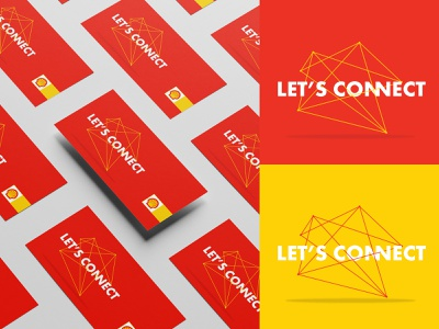 SHELL  / Key Visual colors conference connected lines illustrator photoshop graphicdesign event keyvisual connet red yellow shell