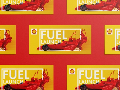 Key Visual / Shell / Fuel Launch formula fuel graphicdesign illustrator photoshop extreme speed yellow red car race keyvisual petrol shell