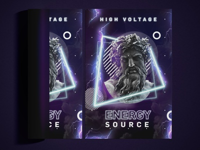 Lightning Energy / Key Visual antique highvoltage power illustrator photoshop event graphicdesign keyvisual modern zeus lightning energy
