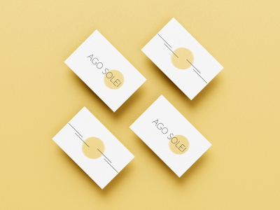 Ago Solei / Logo branding business card illustrator photoshop logo design colors minimalism sun logo