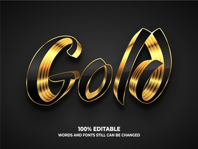 Golden text effect shine luxury gold golden typography text effect