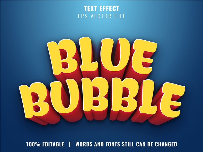 Editable text effect - Cartoon style text effect 3d
