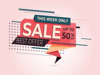 Colorful sale banner for your business
