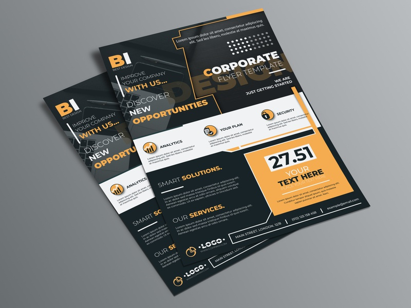 Corporate flyer template busines card poster leaflet flyer cover brochure template brochure design banner ads banner advertising flyer advertising ad banner