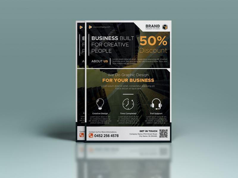 Business flyer template magazine cover leaflet poster flyer brochure banner ads advertising flyer advertising ad banner