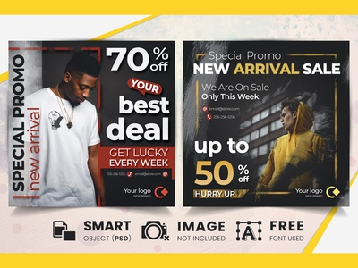 Special offer sale social media banners