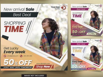 Discount banner template for web and social