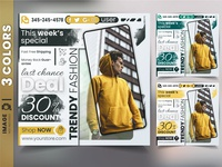 Discount sale web banner template