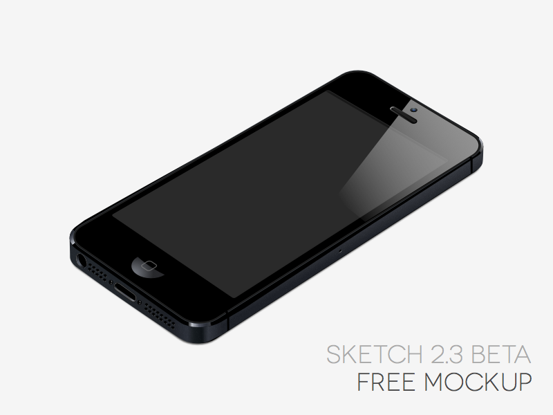 iPhone 5 [Sketch App, Beta 2.3] sketch app iphone mockup free