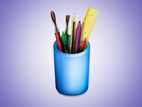 Pencil Pot Icon