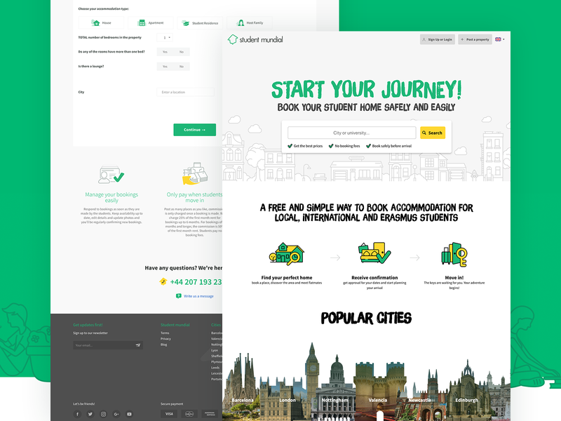 Students Mundial green accomodation booking search students tourism ux ui