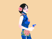 The Classical Woman Beauty of Chinese Cheongsam