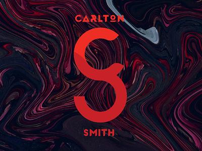 Personal Logo geometic red graphic graphic design lettermark illustrator personal brand brand smith cs s c carltonthered carlton personal logo design logo