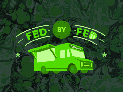 Fed by Fed for VEEAM good cause goodcause carltonthered carltonsmith green logo graphic graphic design food truck foodtruck fed by fed fedbyfed veeam