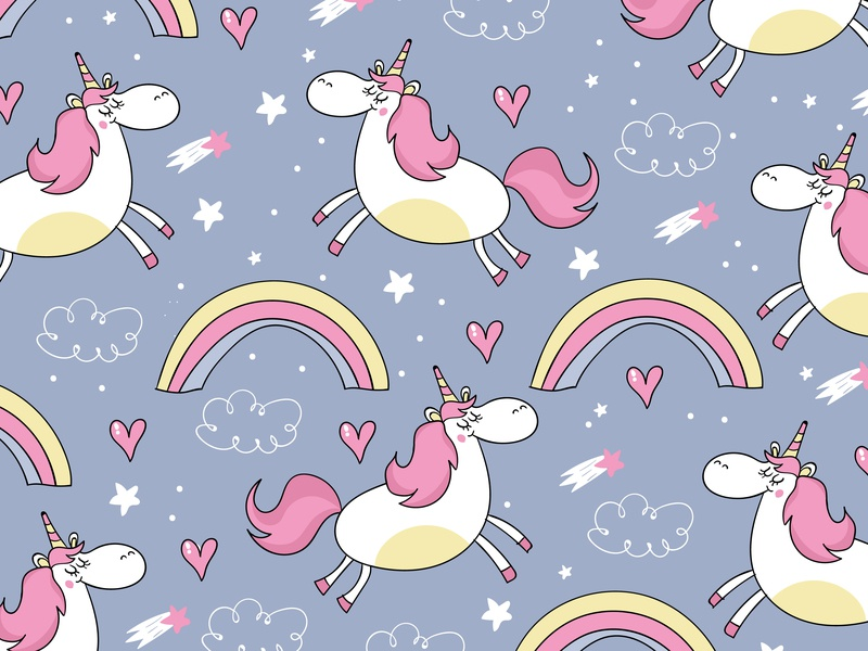 unicorn design flat art artist illustrator vector illustration
