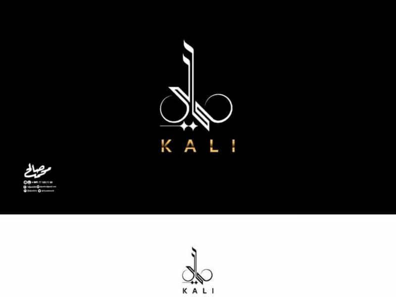 Logo KALI calligraphic typoarabic logo