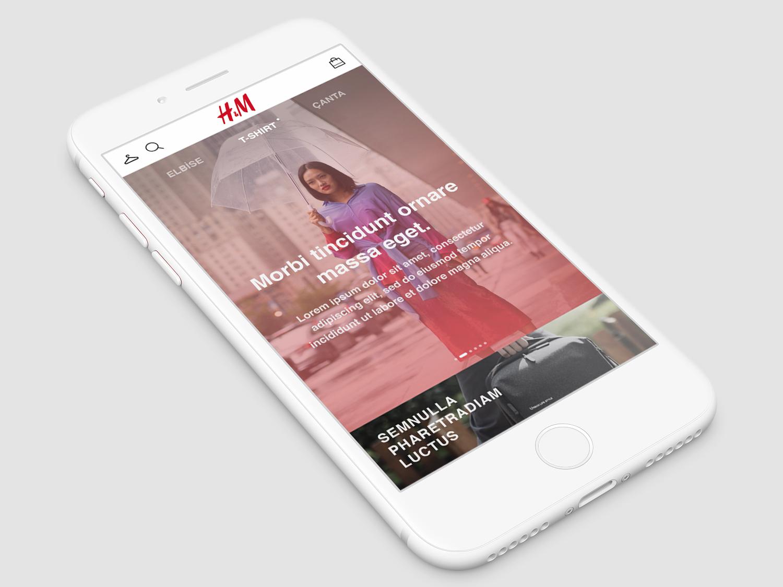 H&M Home Page UI Design visual design ui design minimal web app design branding ux ui