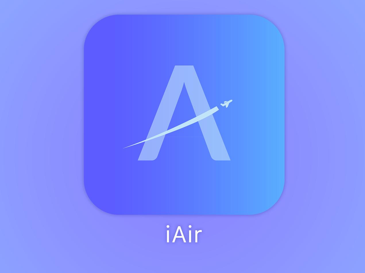 iAir - App Icon logo photoshop app icon