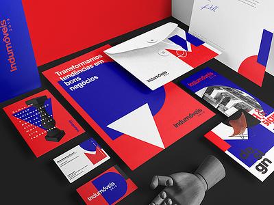 Indumóveis identity bauhaus flat branding typography design logo