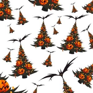 Halloween Christmas Trees Pattern