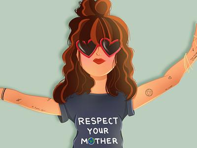 Respect Your Mother drawing people illustration digital artist portrait art digital illustration illustrator procreate digital art