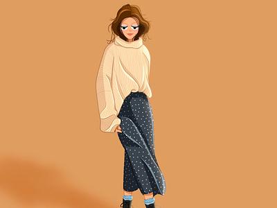 My Daily Fall Outfit apple pencil procreate art procreateapp illustration digital artist digital illustrator artists procreate digital art artist fall fashion
