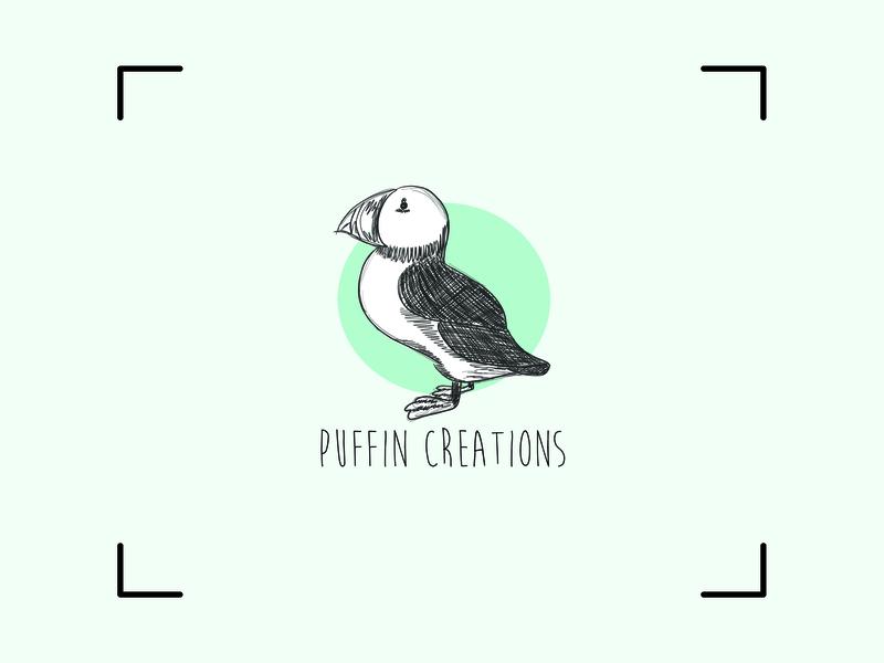 Puffin Creations - Logo Design creations puffin handdrawn branding logo design logo icon vector illustration graphic  design design adobe illustrator