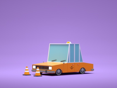 Paykan Taxi car low poly art low poly render cinema 4d c4d 3d artist 3d art 3d design