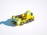 Crane Truck car illustration low poly render cinema 4d c4d 3d artist 3d 3d art design