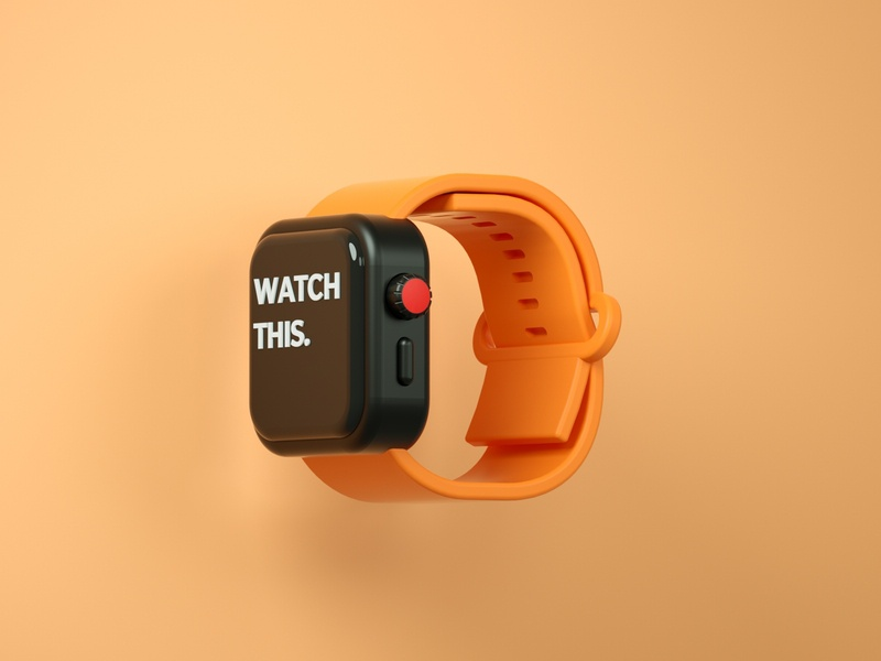 Watch this watch apple watch low poly art low poly render cinema 4d c4d 3d artist 3d art 3d design