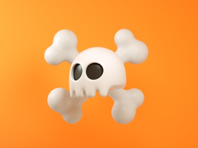 Dead Skull illustration animation render cinema 4d c4d 3d artist 3d 3d art design