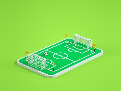 Soccer Field football soccer low poly art low poly render cinema 4d c4d 3d artist 3d art 3d design