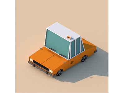 Paykan Taxi iran car taxi low poly art low poly design render cinema 4d c4d 3d artist 3d art 3d